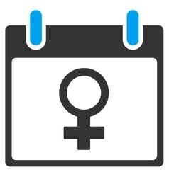 Venus Female Symbol Calendar Day Toolbar vector