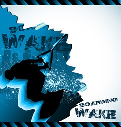Wakeboarder vector composition vector