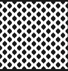 wavy seamless pattern background in black and vector image