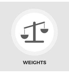 Weights icon flat vector image