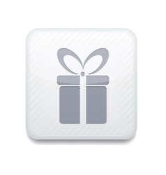 white gift icon Eps10 Easy to edit vector image vector image