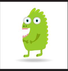 Cute monster kids logo monster set vector
