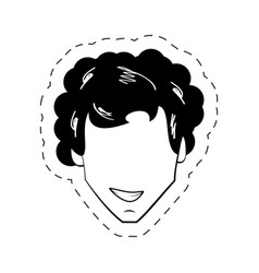 male faceless people black and white vector image vector image