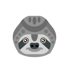 Sloth African Animals Stylized Geometric Head vector image vector image