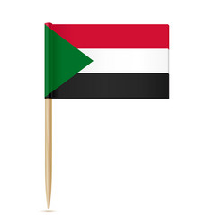sudan flag toothpick 10eps vector image vector image