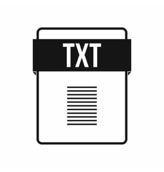 TXT file icon simple style vector image vector image