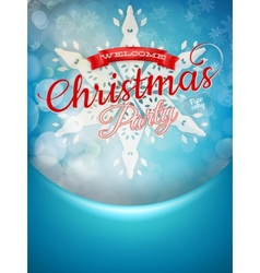 Christmas background and snowflakes EPS 10 vector image vector image