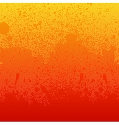 Colorful red orange and yellow paint splashes vector image vector image