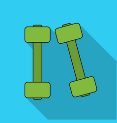 dumbbells icon in flat style isolated on white vector image