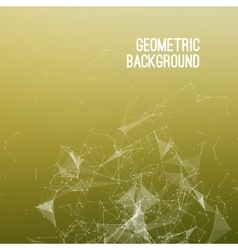 Geometric Abstract mesh background with circles vector image vector image