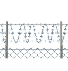 Highly detailed prison or refugee camp fence vector image vector image