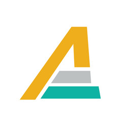 letter a company logo vector image vector image
