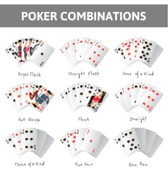 Poker combinations vector image vector image