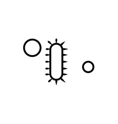 simple bacteria linear icon vector image vector image