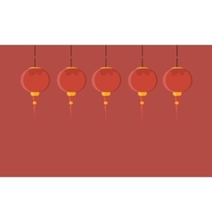 with chinese lantern vector image vector image