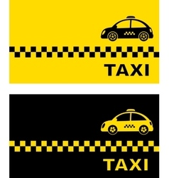 business card with retro taxi vector image