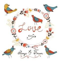 Elegant love card vector image vector image