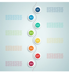 Number steps inforgraphic 5 vector