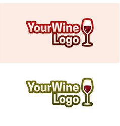 your wine logo vector image vector image
