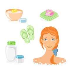 bath and body care icon set vector image vector image