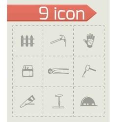 Carpenty icon set vector