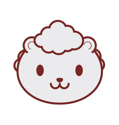 cute sheep face image vector image vector image