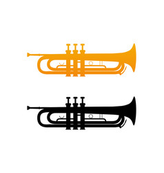 icon of golden trumpet vector image