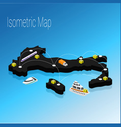 map italy isometric concept vector image vector image