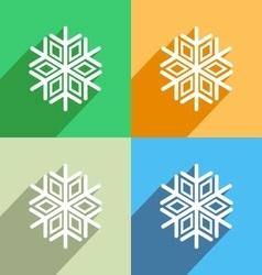 Snowflake icon Menu icon vector image vector image