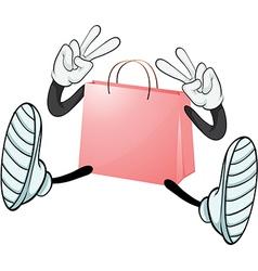 A pink bag vector image