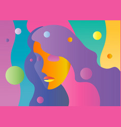 abstract bright color young female face vector image