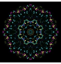 Abstract Geometric Bright Kaleidoscope Pattern vector image