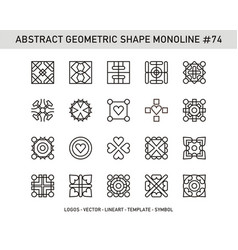 abstract geometric shape monoline 74 vector image