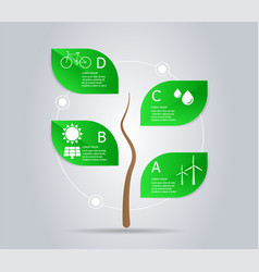abstract tree green power infographic element vector image