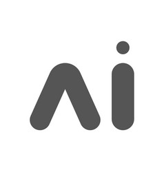 ai letter artificial intelligence vector image