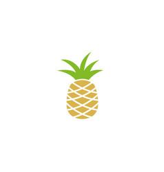 ananas fruit logo vector image