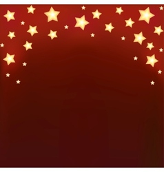 Background with shiny cartoon stars vector image