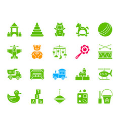 Batoy color silhouette icons set vector