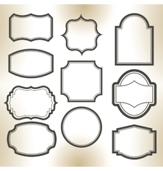 Big elegant frame set vector image