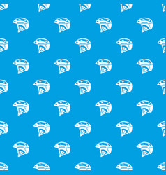 bike helmet pattern seamless blue vector image