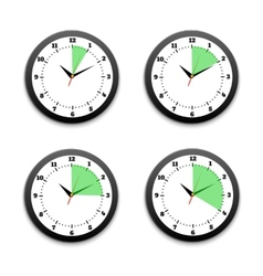 Black clocks icon vector