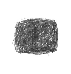 black crayon scribble texture stain isolated on vector image