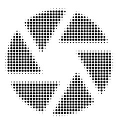 black dotted shutter icon vector image