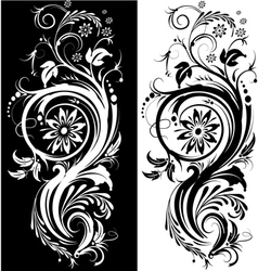 black white ornament vector image