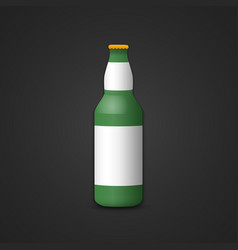 blank beer bottle mockup vector image