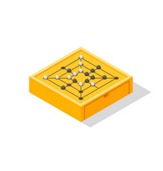 board game go isometric view vector image