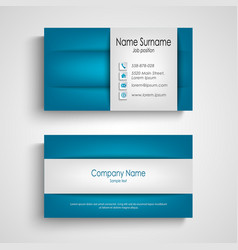 Business card with abstract blue gray design vector