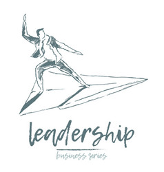 business concept a leadership skills plane vector image
