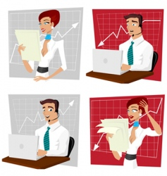 business crisis vector image
