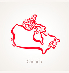 Canada - outline map vector
